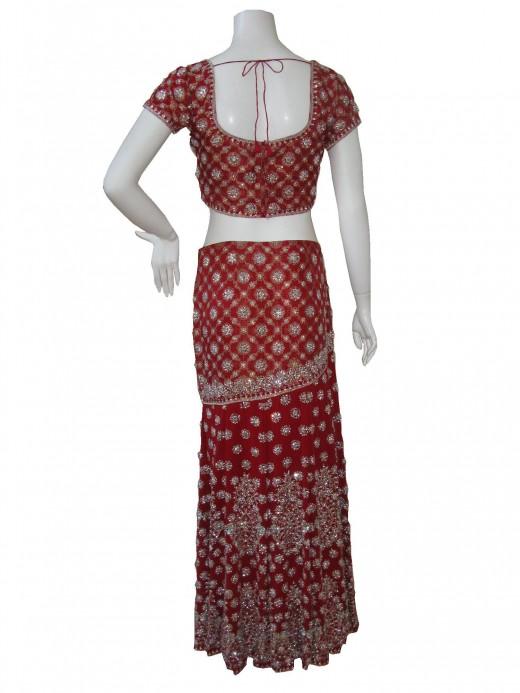 Choli Design of Indian Wedding Ghagra Choli