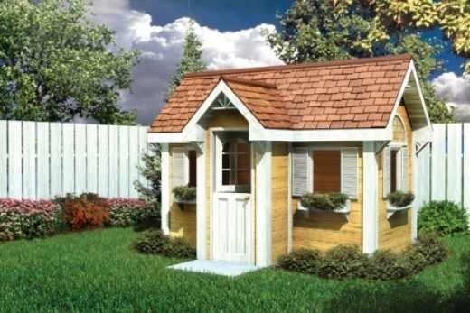 Home ideas outdoor playhouse plans for Backyard clubhouse plans