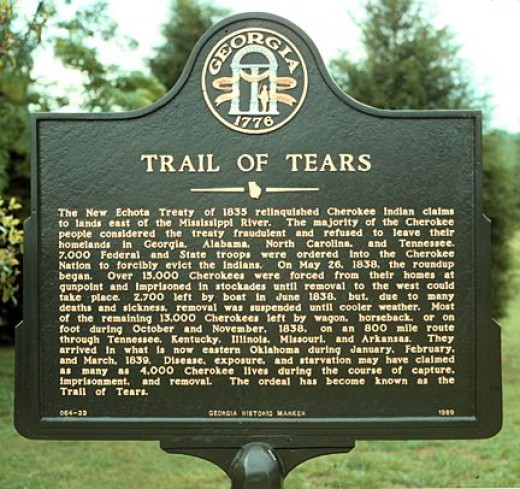 A Georgia Plaque on the Trail of Tears.