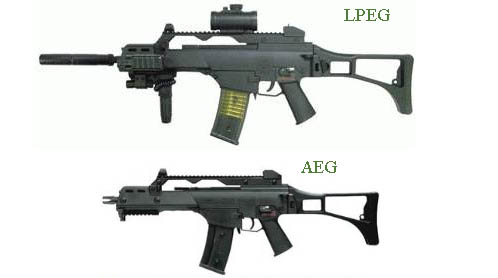The gun above costs 40$. The gun Below costs 250$. What's the difference? This is the purpose of airsoft research!