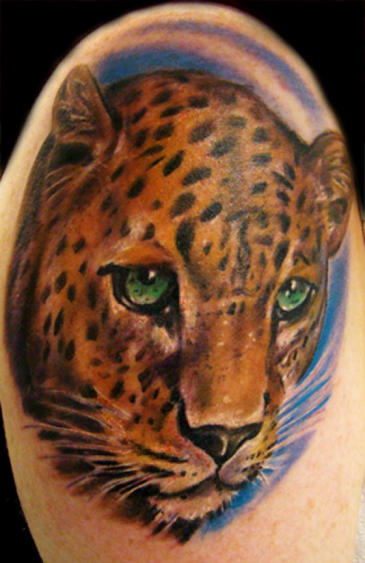 Loves this Leopard tattoo, I wonder why they say a leopard never changes