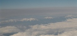 The Minami Alps, aerial view.
