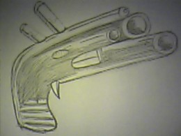 How to draw futuristic guns.