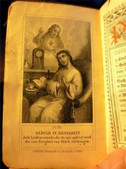 Nice illustration inside this little German prayer book.