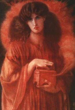 Dante Gabriel Rossetti, Pandora, 1869.
