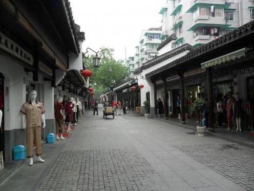 Street in Hangzhou Silk Market