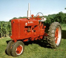 "This tractor and an ""H"" model were what my father and his brother were using when I came along."