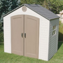 Plastic sheds are relative newcomers.  With one of these you never have to worry about rust.