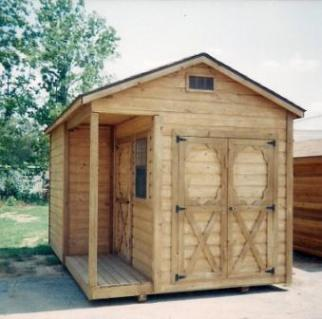 Just another wooden shed in the yard.