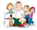 Peter the father, Lois the mother, Chris the son, Meg the daughter, Stewie -- the youngest son plus Brian the dog