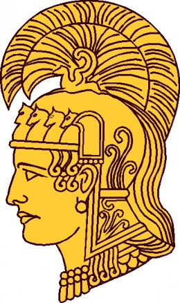 "The head of ""Pallas Athene"" was approved as the insignia for the Women's Army Auxiliary Corps in 1942. Pallas Athene was a goddess associated with an impressive variety of womanly virtues. She was the goddess of handicrafts, wise in industries of pea"