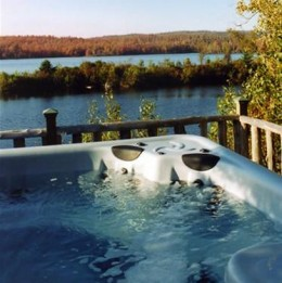 Enjoy a hot tub on your next holiday
