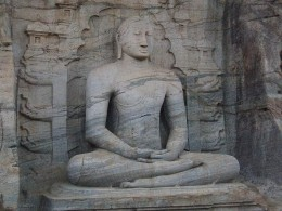 One of the statues in Gal Viharaya in Polonnaruwa
