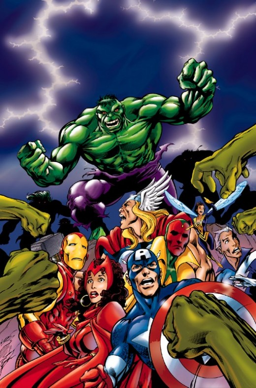 Avengers vs the Hulk.  Source: Flickr, sucker567