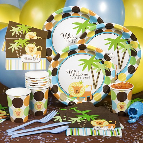 Vbs jungle safari craft ideas party invitations ideas for Baby shower safari decoration