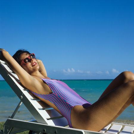 Sunbathing is very popular among European tourists