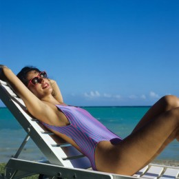 Sunbathing is very popular among European tourists