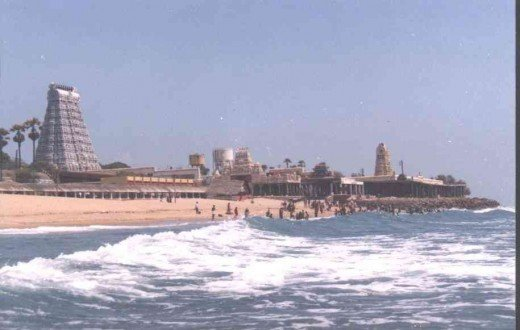 Tiruchendur - situated near sea shore.
