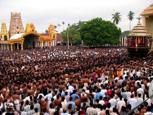 Nallur Kandasamy templo, Jaffna, Sri Lanka.