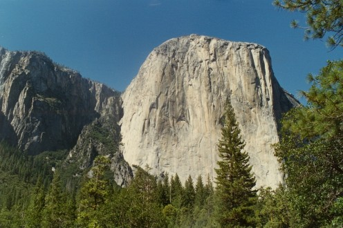 The awe-inspiring El Capitan from the Yosemite Valley.