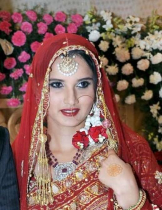 Sania Mirza - Bridal Wear 2010  - Indian Tennis star