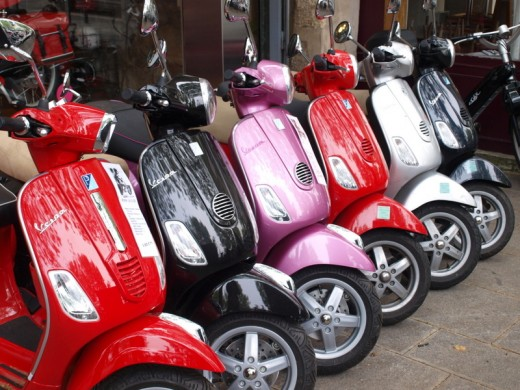 Ok,how about a rainbow fleet of scooters?