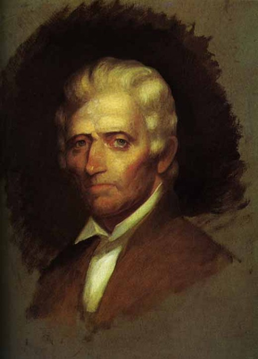 Daniel Boone - Oil sketch by Chester Harding