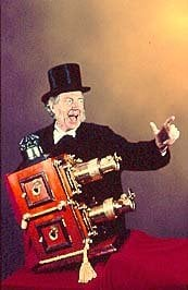 Title: Terry Borton, Magic Lantern Showman  Attribution License :http://creativecommons.org/licenses/by/2.5/ Photographer: Magic Lantern Shows