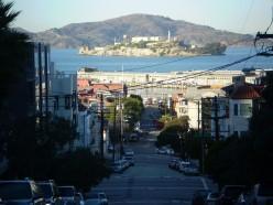 Alcatraz Island, Golden Gate National Recreation Area, from San Francisco.
