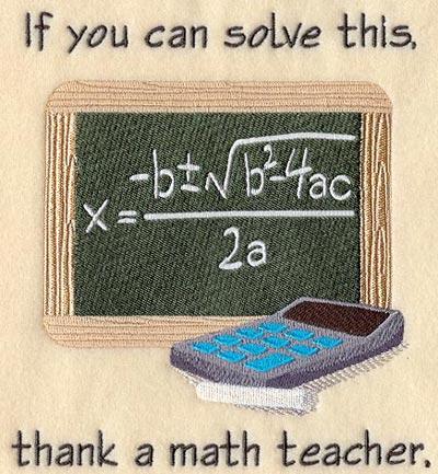 A rug with the quadratic formula.