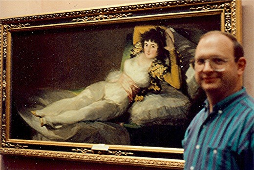 The Clothed Maja by Goya, 1797-98 * My hubby in front of the painting.