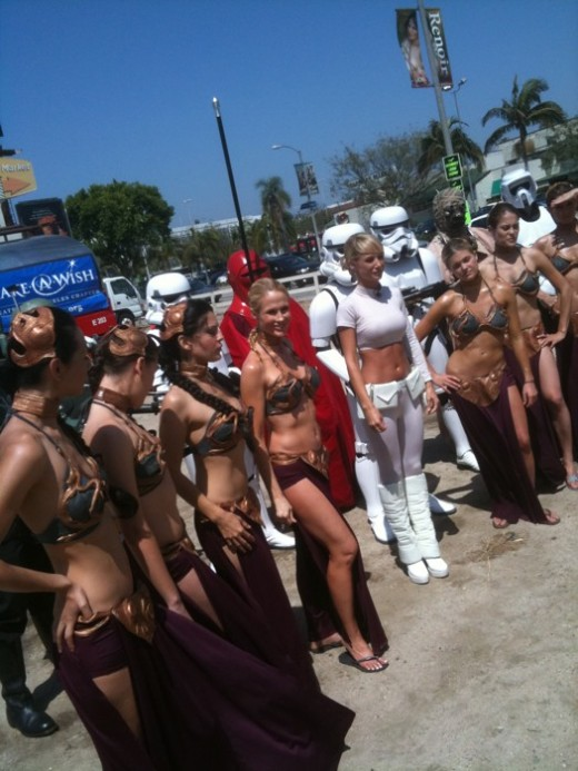 Princess Leia Car Wash presented by G4. Source: Flickr, Official Star Wars Blog
