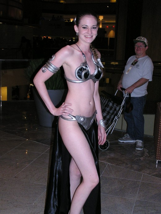 Goth Slave Leia. Source: Flickr, samaritanx
