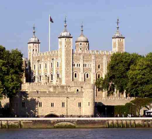 The Tower of London, where Henry 8th sent his wife Anne Boleyn and Katherine Howard to be beheaded.