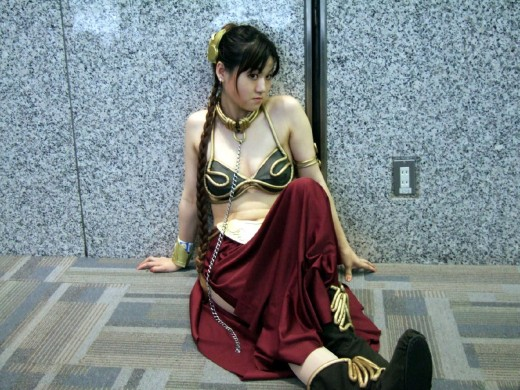 Japanese girl in Slave Leia costume. Source: Flickr, hobby blog