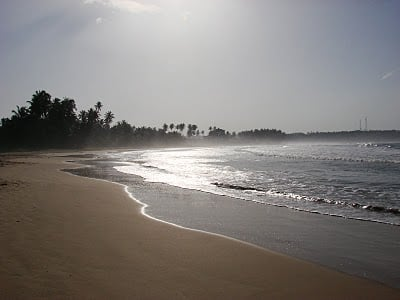 Beautiful beach surrounding the Dickwella Beach resort