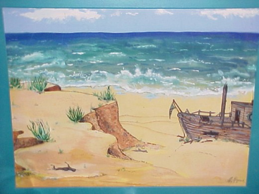 My shipwreck on the isle of 82 lattitude...82 longitude somewhere east of 100 miles from nothing.
