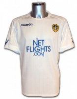 The official Leeds United FC football shirt for 2009-2010 From http://lufcsuperstore.dnsupdate.co.uk/