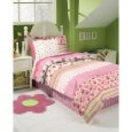 pink gingham comforter