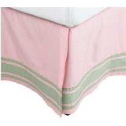pink gingham bedskirt
