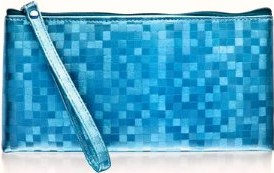 Stylish turquoise clutch purse