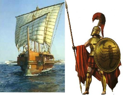 The Athenians had by far the suprior navy while the Spartans dominated Greece in land battles