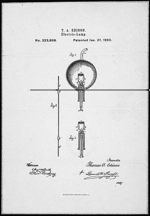 Edison's light bulb wasn't the first, but it was the best you could get at the time. Image courtesy Wikimedia Commons.