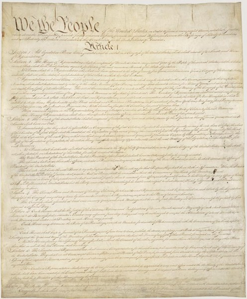 "The presidential oath of office is specified in here. It does not end with ""so help me God."" Image courtesy US National Archives."