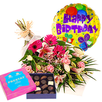 Birthday Flowers and Sweets