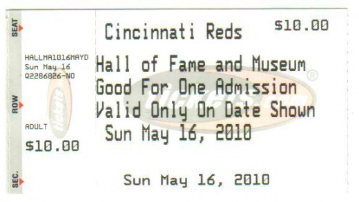 Ticket from the Hall of Fame,