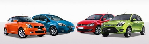 Fiat Grande Punto versus Volkswagen Polo vs Maruti Swift vs Ford Figo