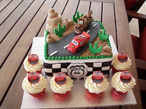 Cars Birthday Cake on Disney Cars Birthday Cakes