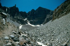 Wheeler Peak from the base of the rock glacier.