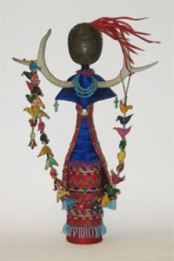 Female Spirit Dolls and Native American Masks